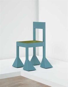 ALESSANDRO MENDINI 'Spaziale' chair, c. 1981  Lacquered wood. 85.1 cm. (33 1/2 in.) high From an edition of six.  Produced for Studio Alchimia, Italy.