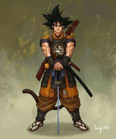 This Goku by is absolutely BEAST. You could put Samurai Armor on a chicken and it would look badass so this is amazing! Nice This Goku by is absolutely BEAST. You could put Samurai Armor on a chicken and it would look badass so this is amazing! Dragon Ball Z, Dragonball Anime, Goku E Vegeta, Illustration Fantasy, Manga Illustration, Manga Anime, Goku Manga, Manga Girl, Anime Girls