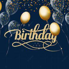 Happy Birthday Font, Wish You Happy Birthday, Happy Birthday Balloon Banner, Happy Brithday, Happy Birthday Celebration, Birthday Card With Photo, Birthday Photo Frame, Birthday Frames, Birthday Background