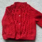 Ciaran toddler aran cardigan PDF knitting pattern