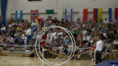 WC 2013  in Wheel Gymnastics Junior woman Finale vault Melisa Aksu 6th P...