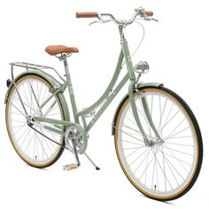 Shop vintage-inspired ladies' step-thru single-speed city bike -- retro frame, headlamp, bell, and rear rack -- starting at $299. Let's ride.
