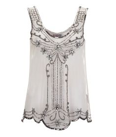 Lipsy Floral Bead Detail Top
