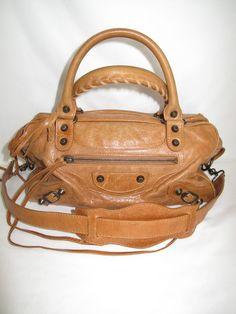 8c24a3d0b6e6 Balenciaga camel twiggy handbag