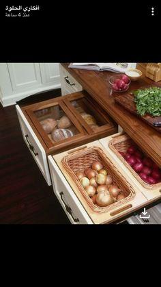 Dry storage drawers kitchen