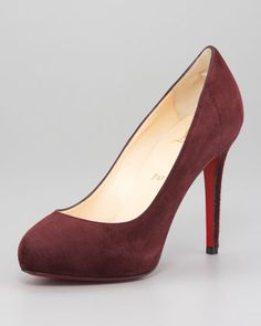 New Declic Suede Pump by Christian Louboutin at Neiman Marcus.