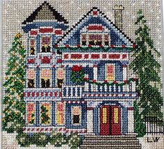 The Book and Crafts Review Corner: Linda's Review of Queen Anne House Cross-Stitch Kit From Mill Hill - Buttons & Beads Series