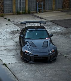 HONDA S2000 in black — these customizations and special parts really give it a fierce look