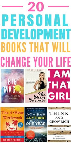 Life Changing Personal Development Books for Women - These 20 personal development books have given me the motivation and determination to succeed in business! They're all a must-read in my opinion!