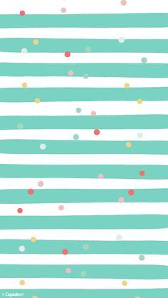 Mint white pink stripes confetti dots iphone wallpaper background phone lockscreen