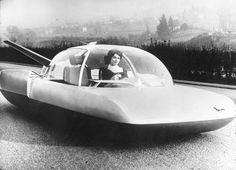 """The Fulgur, developed by Simca in 1958, gives another idea of what the cars of the future may look like. Simca of France displayed the Fulgur concept car during the 1961 Chicago show. Atomic power and radar were features mentioned on this futuristic vehicle. Fulgur is Latin for ""flash,"" and Simca stands for ""La Société Industrielle de Méchanique et de Carrosserie Automobile"""""