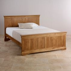French Farmhouse Rustic Solid Oak 5ft King-Size Bed
