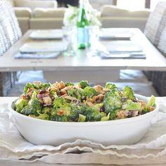A Little Bit Lighter Broccoli Crunch Salad by freshandfit on #kitchenbowl