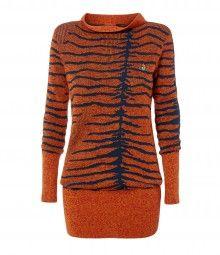 Animal Trim Unisex Sweater