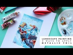 Today i am painting an abstract landscape in and showing you 2 different ways you can use to embellish your illustrations. Abstract Landscape, Landscape Paintings, Speed Paint, Gouache Painting, Metallic, How To Apply, Illustration, Youtube, Landscape