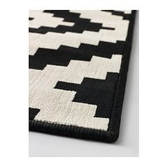 LAPPLJUNG RUTA Alfombra, pelo corto, blanco blanco/negro, negro - blanco/negro - 200x300 cm - IKEA