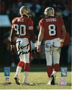 49ers #80 jerry rice & #8 Steve young