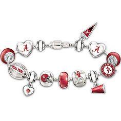 a7120082eba Bracelet  Go Alabama Crimson Tide!  1 Fan Charm Bracelet Kansas Jayhawks