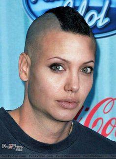 Funny Bald Angelina Jolie