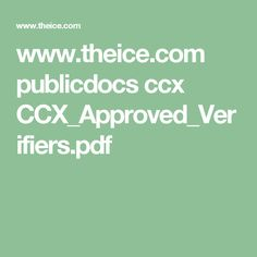 www.theice.com publicdocs ccx CCX_Approved_Verifiers.pdf