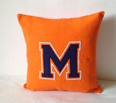 Dorm Decor, Decorative Throw Pillows, Embroidered Pillow, Collage Accent Pillows, Bedroom Nursery Pillows, Teen Pillows, 14x14