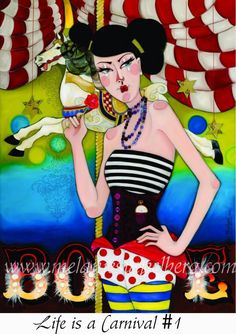 Life is a Carnival 1 Art print on canvas $35