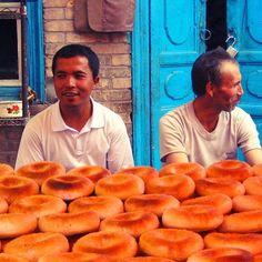 「past photos of my journey!!」 The Bakery/Uygur_China  中国は最西部、新疆ウイグル自治区のカシュガルから。中国にして中国ではなかった。ベーグルはそんなうまくなかった笑  #ウイグル自治区 #uygur #ウイグル #カシュガル #kashgar #tbt #tb #throwback #travel #trip #instatrip #instatravel #instatraveling #travelgram #tourist #backpacking #旅行 #旅 #海外 #旅人 #バックパッカー #オカザキッチン #東京オカザキッチン Around The Worlds, Shops, China, Instagram Posts, Food, Tents, Essen, Retail, Meals