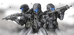 Back to back - ODST fan art