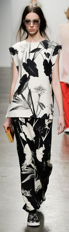Black and white / monochrome Botanical print Osklen - Spring 2015