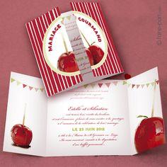 Faire-part Gourmandise G61D - www.faire-part.com