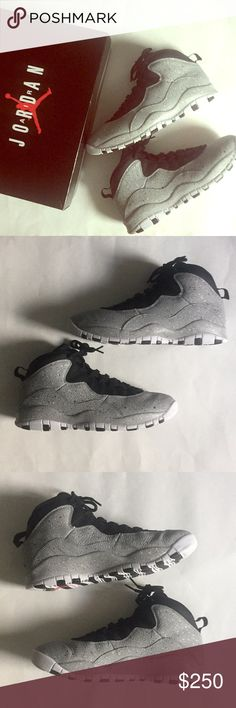 758a258c Air Jordan 10 Retro: Cement Gray Final Price Drop Color: Grey/Black/