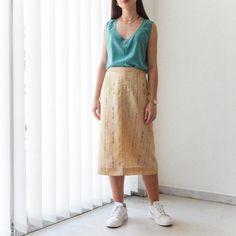 VIN-SKI-0761 Vintage φούστα μίντι εκρού με έθνικ σχέδια Vintage Skirt, Midi Skirt, Skirts, Fashion, Moda, Midi Skirts, Fashion Styles, Skirt