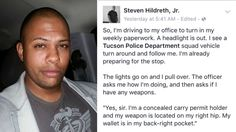 Man's Facebook post about traffic stop goes viral