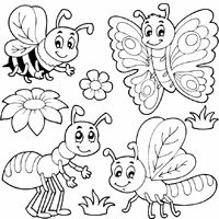 bugs and insects tons of coloring pages on this site - Insect Coloring Pages