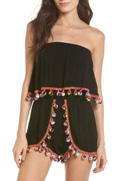 6edb24d38a960 Surf Gypsy Red Fruit Punch Cover-Up Romper