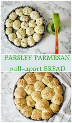 Parsley Parmesan pull-apart Bread.
