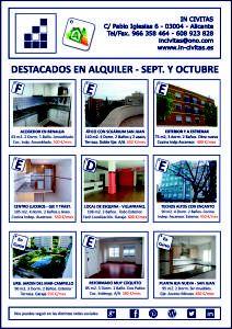 VIVIENDAS DESTACADAS EN ALQUILER SEPTIEMBRE Y OCTUBRE. www.in-civitas.es