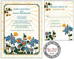 PRINTABLE Wedding Invitation Set - Sunshine Garden - I set text, YOU print