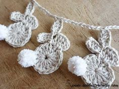 DIY Crochet Bunny Garland Pattern