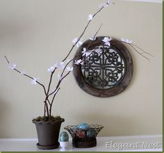 DIY Cherry Blossom Decor...step by step directions to make your own!
