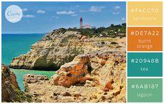 modern beach color palette with hex codes Beach Color Palettes, Pantone Colour Palettes, Pantone Color, Colour Schemes, Color Combinations, Couleur Html, Pintura Exterior, Web Colors, Colour Board
