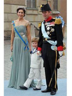 Prince Frederik of Denmark, Princess Mary of Denmark and their son Prince Christian