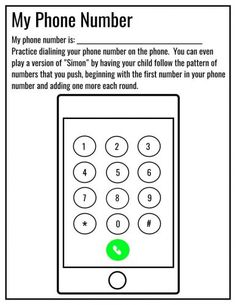 5ways to teach your phone number