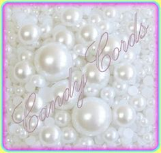 200 Flat Back Mixed Size Pearls - Mixed pack sizes 2mm-10mm Cards Deco Den