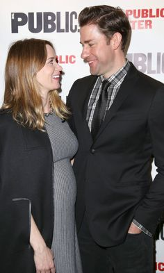 Pin for Later: John Krasinski and Emily Blunt Only Have Eyes For Each Other During a PDA-Filled Red Carpet Appearance