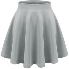 Aenlley Womens Basic Shirts Stretchy Short Pleated Circle Flared... (22 BRL) ❤ liked on Polyvore featuring skirts, saia, knee length pleated skirt, short flared skirt, skater skirt, short skirts and pleated skirt