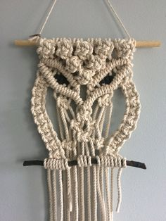 Macrame Owl Wall Hanging by GreenElephantBklyn on Etsy