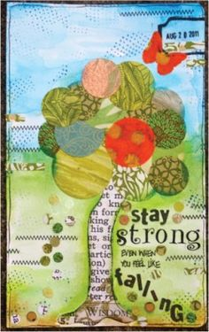 Your journal is just for you. No pretending or boasting your thoughts and feeling. God knows and see everything so let Him know what is inside. This is one art journal that does not demand perfection.