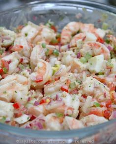 Simple Shrimp Salad Recipes is One Of Liked Salad Recipes Of Several People Across the World. Besides Easy to Create and Great Taste, This Simple Shrimp Salad Recipes Also Health Indeed. Avocado Recipes, Fish Recipes, Seafood Recipes, Cooking Recipes, Healthy Recipes, Cold Shrimp Salad Recipes, Simple Shrimp Recipes, Recipies, Seafood Salad