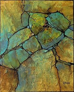 Geologic Abstract demo by Carol Nelson mixed media ~ 10 inches x 8 inches